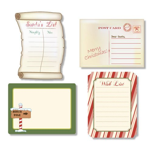 Chic Tags - Delightful Paper Tags - Dear Santa Journaling Tags - Set of 4