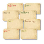 Chic Tags - Delightful Paper Tags - Faith Flash Cards - Set of 8