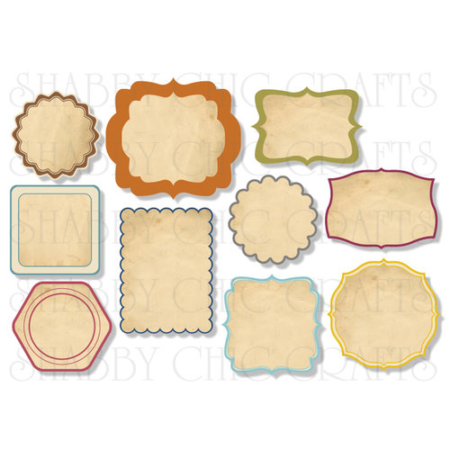 Chic Tags - Delightful Paper Tags - Fall So Chic - Set of 10