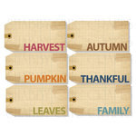 Chic Tags - Delightful Paper Tags - Fall Word Tags - Set of 6