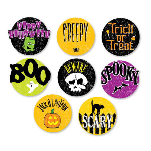 Chic Tags - Delightful Paper Tags - Halloween Embellishments - Set of 8