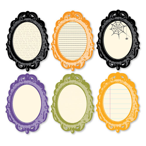 Chic Tags - Delightful Paper Tags - Vintage Halloween Frames - Set of 6