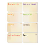 Chic Tags - Delightful Paper Tags - Halloween Vintage Flash Cards - Set of 8