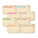 Chic Tags - Delightful Paper Tags - Holiday Flashcards - Set of 8