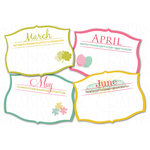 Chic Tags - Delightful Paper Tags - Months of Spring Journaling Tags - Set of 4