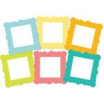 Chic Tags - Delightful Paper Tags - Scalloped Square Frames - Set of 6