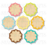 Chic Tags - Delightful Paper Tags - Soak Up The Sun Scalloped Flowers - Set of 7