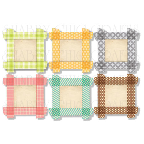 Chic Tags - Delightful Paper Tags - Soak Up The Sun Tape Frames - Set of 6