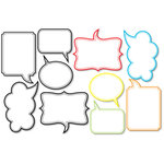 Chic Tags - Delightful Paper Tags - Speech Bubble Journaling Tags - Brights - Set of 10