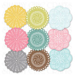 Chic Tags - Delightful Paper Tags - Spring Doilies - Set of 9