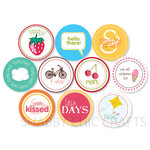 Chic Tags - Delightful Paper Tags - Spring Words and Icons - Set of 10