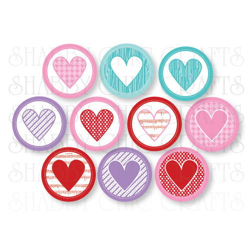 Chic Tags - Delightful Paper Tags - Valentine Heart Icons - Set of 10