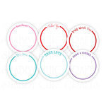 Chic Tags - Delightful Paper Tags - Valentine Word Circles - Set of 6