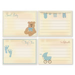 Chic Tags - Delightful Paper Tags - Vintage Baby Boy Cards - Set of 4