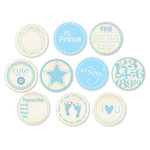 Chic Tags - Delightful Paper Tags - Vintage Baby Boy Embellishments - Set of 10