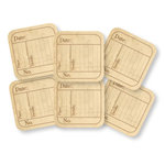 Chic Tags - Delightful Paper Tags - Vintage Date Squares - Set of 6