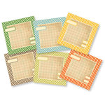 Chic Tags - Delightful Paper Tags - Vintage Polkadot Squares - Set of 6