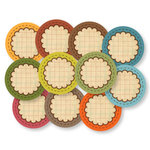 Chic Tags - Delightful Paper Tags - Vintage Scalloped Circles - Set of 11