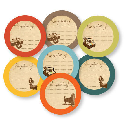 Chic Tags - Delightful Paper Tags - Vintage Snapshots Of - Set of 7