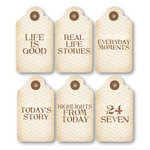 Chic Tags - Delightful Paper Tags - Everyday Life Mini Tags - Set of 6