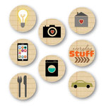 Chic Tags - Delightful Paper Tags - Everyday Life Icons - Set of 8