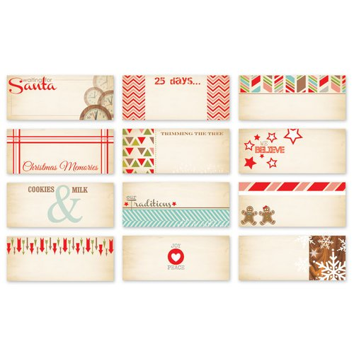 Chic Tags - Christmas - 25 Days Mini Tags - Set of 12