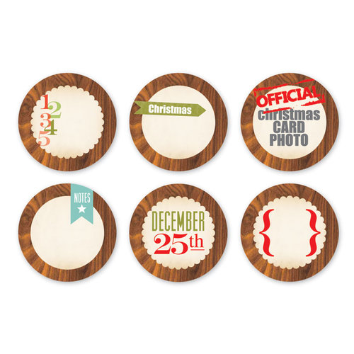 Chic Tags - Christmas - 25 Days Wood Grain - Set of 6
