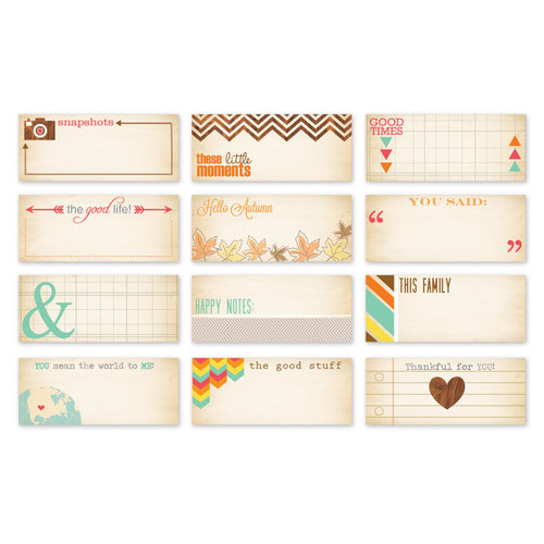 Chic Tags - Autumn Days Mini Tags - Set of 12