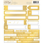 Chic Tags - Cloud 9 Collection - Cardstock Stickers - Labels - Gold