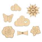 Chic Tags - Cloud 9 Collection - Wood Veneer Shapes - Bloom