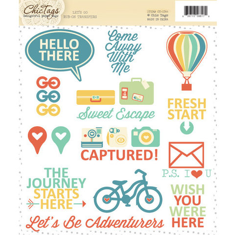 Chic Tags - Lets Go Collection - Rub Ons