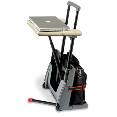 CartDesk - Portable Desk and Luggage Cart, CLEARANCE