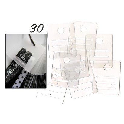 Chicory Chic - Ribbon Ring - Ribbon Tags - 30 Pieces