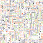 Doodlebug Designs - Patterned Paper - Halloween Collection - Spooky Doodles, CLEARANCE