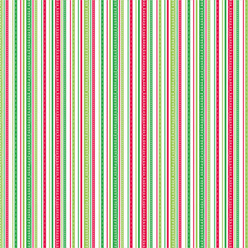 Doodlebug Design - Patterned Paper - Christmas Collection - Loopy Stripes