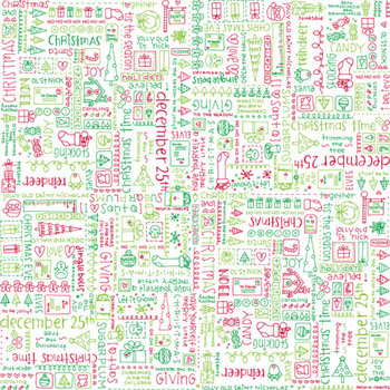 Doodlebug Design - Patterned Paper - Christmas Collection - Jolly Doodles