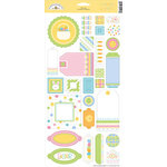 Doodlebug Designs - Easter Collection - Whimsy Wafers - Self-Adhesive Chipboard - Easter, CLEARANCE