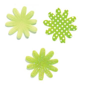 Doodlebug designs silk flowers limeade clearance mightylinksfo