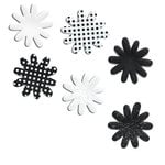 Doodlebug Designs - Silk Flowers - Black and White, CLEARANCE