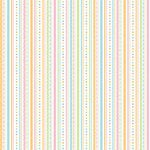 Doodlebug Design - Easter Collection - 12x12 Paper - Easter Ribbon Stripe