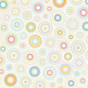 Doodlebug Design - Easter Collection - 12x12 Paper - Pastel Kaleidoscope