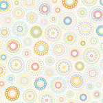 Doodlebug Design - Easter Collection - 12x12 Paper - Pastel Kaleidoscope
