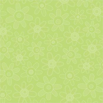 Doodlebug Design - Easter Collection - 12x12 Paper - Limeade Blossoms