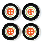 Doodlebug Designs - Striped Buttons - Halloween Collection, CLEARANCE