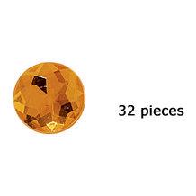 Doodlebug Design - Jewels Adhesive Rhinestones - Tangerine, CLEARANCE