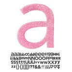 Doodlebug Design - Sugar Coated - Adhesive Chipboard Alphabet - Hopscotch Font - Bubblegum, CLEARANCE