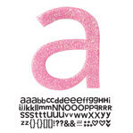 Doodlebug Design - Sugar Coated - Adhesive Chipboard Alphabet - Hopscotch Font - Bubblegum, CLEARANCE