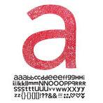 Doodlebug Design - Sugar Coated - Adhesive Chipboard Alphabet - Hopscotch Font - Ladybug, CLEARANCE