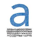 Doodlebug Design - Sugar Coated - Adhesive Chipboard Alphabet - Hopscotch Font - Blue Jean