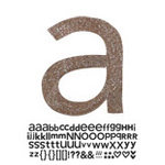 Doodlebug Design - Sugar Coated - Adhesive Chipboard Alphabet - Hopscotch Font - Bon Bon